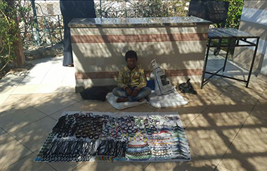 Inhabitants Selling Hand Crafts